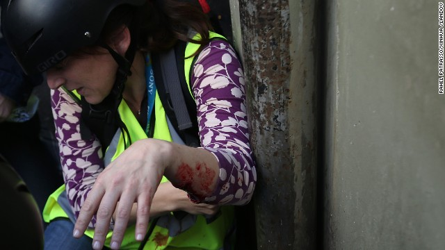 CNN Correspondent Barbara Arvanitidis is injured during the protests. She and another CNN journalist sustained minor injuries at the scene.