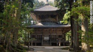 This two-story pagoda is part of the sacred Danjo Garan site.