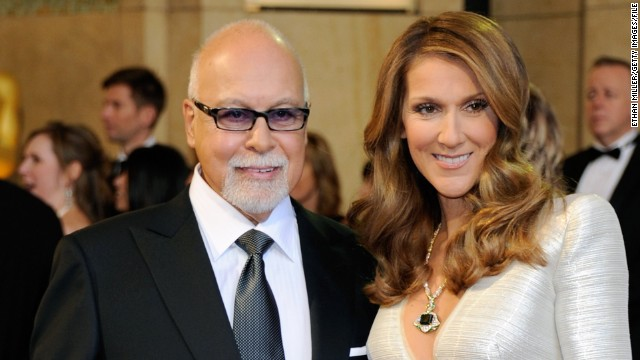 Rene Angelil and his wife, Celine Dion, here at the Oscars in 2011, first met when she was a teenager.