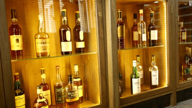 The hotel boasts an extensive drinks cabinet with a wide range of Scottish whisky on offer.