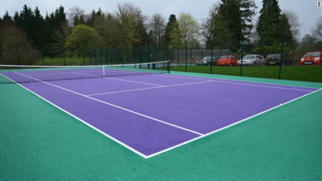 Murray has installed Wimbledon-colored tennis courts in the hotel grounds. Murray won the Wimbledon title in 2013.