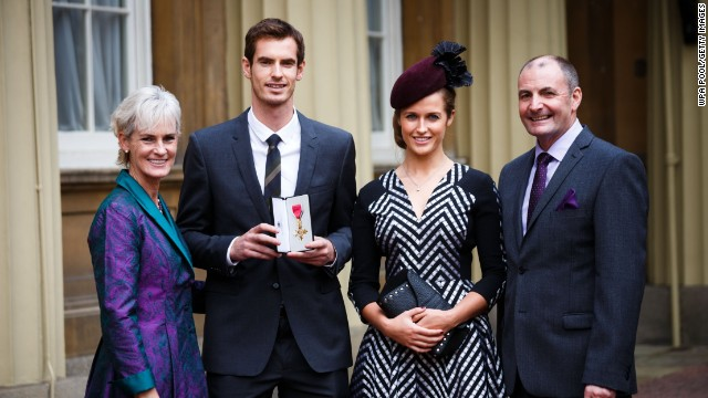 Murray was rewarded for his success with an award from Prince William at Buckingham Palace in 2013.