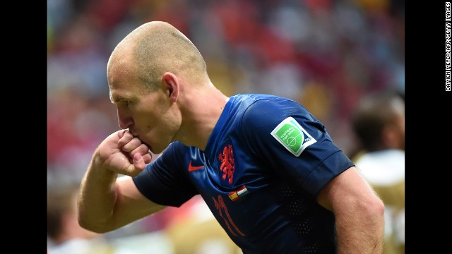 Robben also scored the goal that gave the Netherlands a 2-1 lead. This was a rematch of the 2010 World Cup final, which Spain won in extra time.