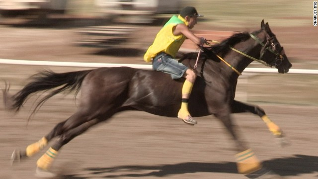 Speed and horsemanship are essential as riders like Zack Rock (