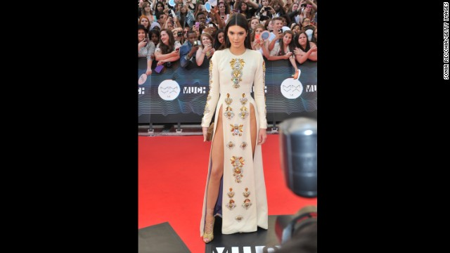 Kendall Jenner in her buzzed-about dress at the 2014 MuchMusic Video Awards on Sunday in Toronto.