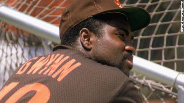 Gwynn, seen here in 1989, played his entire 20-year career with the San Diego Padres.