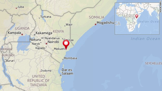 Map: Mpeketoni, Kenya