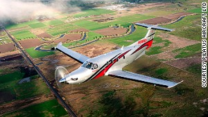 Earhart will make her record attempt in a Pilatus PC12.