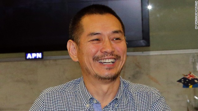 Artist Guo Jian arrives at Sydney Airport on June 17.