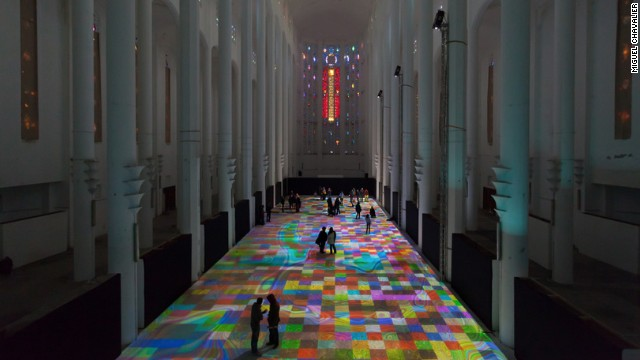 """Magic Carpets"" at the Sacre Couer Cathedral in Casablanca"