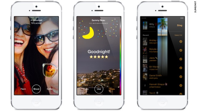 Facebook says Slingshot is available in the United States, starting Tuesday, on iPhone and Android.