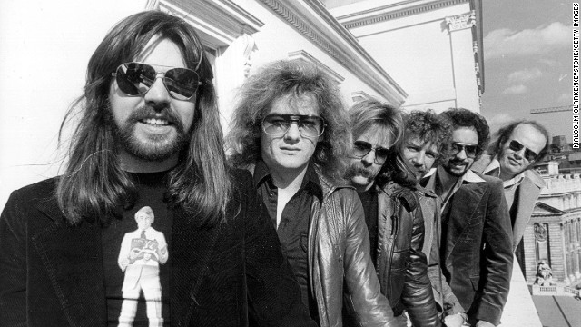 "Bob Seger first recorded ""Turn the Page"" as a solo artist, but the 1976 live version with the Silver Bullet Band (Seger in front, pictured in 1977) is the classic rock radio staple."