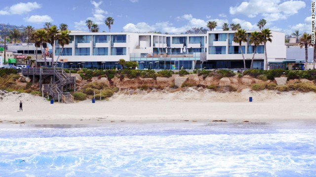 San Diego's Tower 23 Hotel overlooks Pacific Beach.