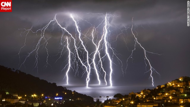 "Several severe thunderstorms came through the oceanfront city of Dubrovnik, Croatia, in June.<a href='http://ireport.cnn.com/docs/DOC-1144291'> Boris Basic</a>, who snapped this photo, said the storms also brought hail and flash flooding. ""It was intense experience,"" he said."