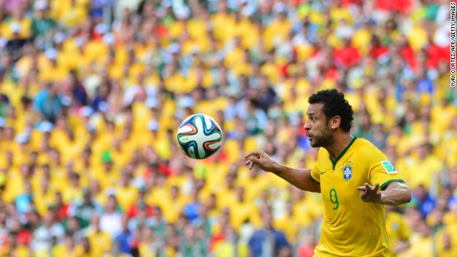 Fred focuses on the ball.
