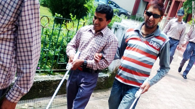 SmartCane users attend workshops to familiarize themselves with the technology before venturing out on their own.