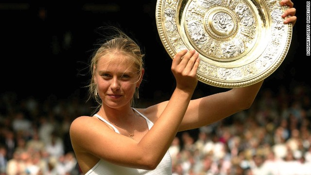 MARIA SHARAPOVA first Russian to win the Wimbledon