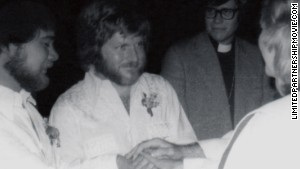 Adams (left) and Sullivan were one of six same-sex couples who were married in Boulder, Colorado, in 1975.