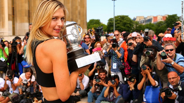 Two years later Sharapova regained her French Open crown. With Wimbledon on the horizon, can she claim two grand slams in one year for the first time?