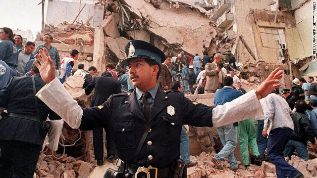 On July 18, 1994 a bomb at the Jewish Community Center in Buenos Aires killed 85 people and wounded 300.