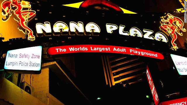 Bangkok's Nana Entertainment Zone (or Nana Plaza) offers tour-goers plenty of outgoing transgender women and a bar where customers are lured onstage and spanked.