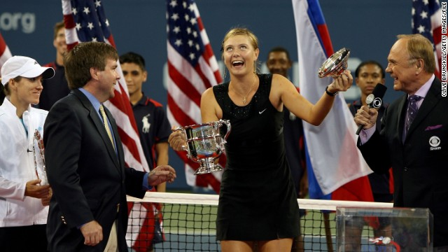 Sharapova has every reason to joke around -- in 2006 she won the U.S. Open final against Justine Henin. She finished the season ranked world No. 2, her best end-of-year finish yet.