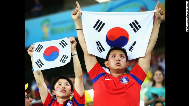 South Korea fans show their support.