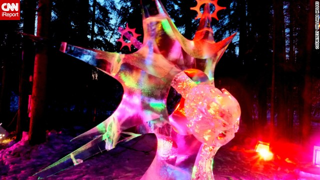 <a href='http://ireport.cnn.com/docs/DOC-1071440'>William Helms</a> took this photo at the 2013 World Ice Art Championships in Fairbanks, Alaska. Colorful light is projected onto the intricate ice sculptures to create dazzling works of art.