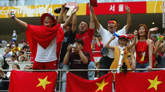 Chinese football fans are incredibly enthusiastic about their team -- despite its lack of success at major tournaments.