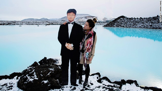 "Iceland's Blue Lagoon (pictured) proved theraputic for the grieving Yang. ""I had talked about going backpacking through Europe, but when I started planning the trip, it gave me something to look forward to again. I discovered hope in my future again."""