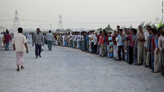 Human Rights Watch estimates there are 5 million low-paid migrant workers living in the UAE.