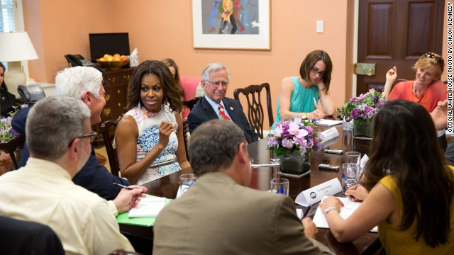 Michelle Obama challenges Republicans over child nutrition law