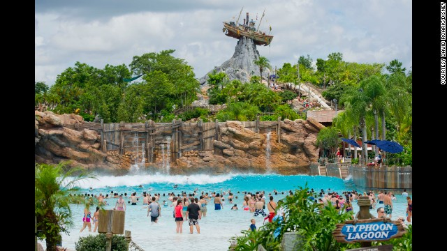 Typhoon Lagoon at Walt Disney World in Orlando, Florida, attracted more people than any other U.S. water park in 2013, with 2.1 million visitors.