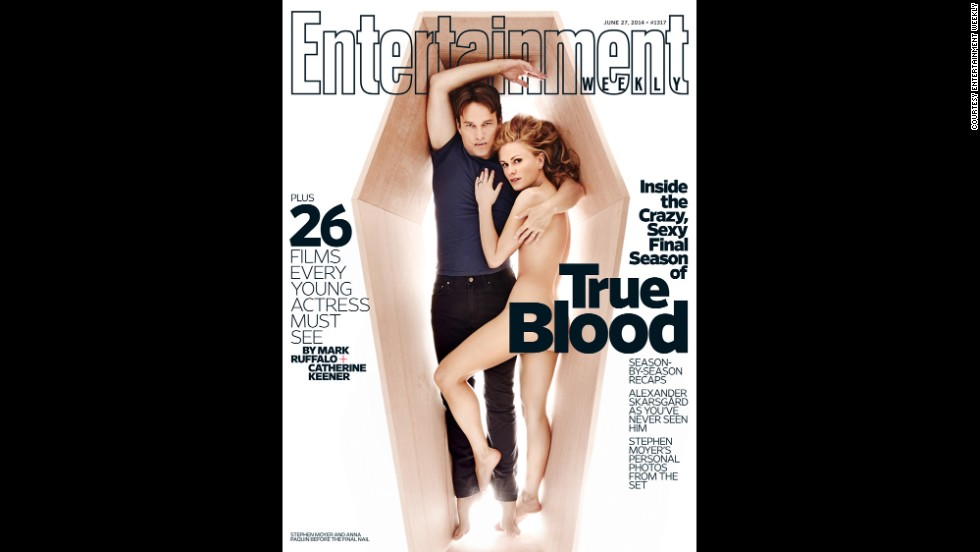 "The final season of ""True Blood"" premieres Sunday, June 22, and what better way to raise awareness than with a sexy magazine cover? Of course, it isn't the first time the ""True Blood"" stars have stripped down. Click through the gallery to look at other controversial magazine covers through the years:"