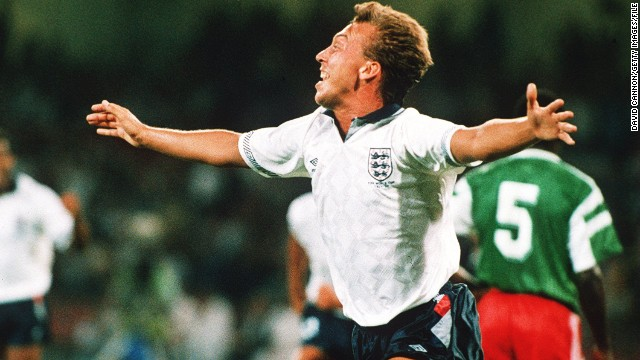 "The success of ""World in Motion"" was largely down to the performances of the England team in Italy. David Platt (pictured) scored an extra-time winner against Belgium in the round of 16 before Bobby Robson's team came from behind to beat Cameroon in the quarterfinals."