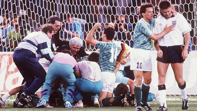 It proved to be a heartbreaking night for the England team, which lost in an agonizing penalty shootout. Despite its despair, England could reflect on reaching the semifinals for only the second time in its history. The 1990 tournament was England's finest World Cup on foreign soil.