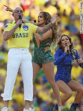 "The official song of the 2014 World Cup is ""We Are One,"" which was recorded by Pitbull, Jennifer Lopez and Claudia Leitte. The trio performed together at the tournament's opening ceremony in Sao Paulo."
