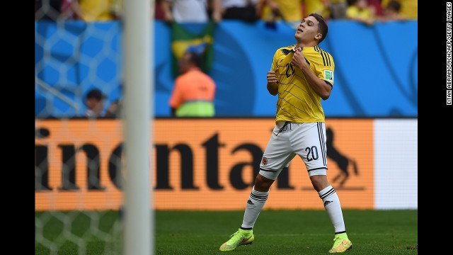 Juan Fernando Quintero gave Colombia a 2-0 lead with his goal in the second half.