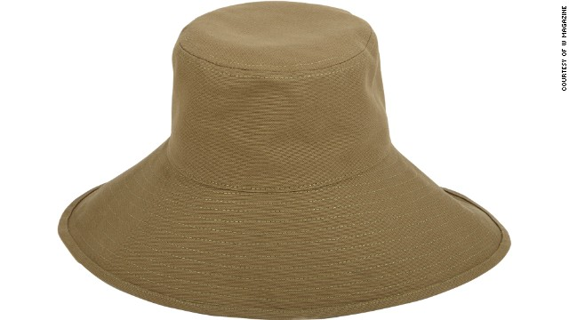 A modern take on the fishing hat is easy to pack and will help protect from the elements. Barneys Olona Sunhat, <a href='http://www.barneys.com/on/demandware.store/Sites-BNY-Site/default/Product-Show?pid=00505033565071&q=olona%20sunhat&index=4' target='_blank'>barneys.com</a>.