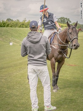 """It's all about feeling comfortable,"" Pieres told Alysen. ""If you don't feel comfortable on the horse you will not be able to hit the ball."""
