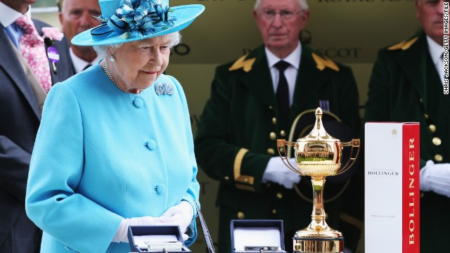 Not everyone will be pleased with the result though. Leading Light narrowly beat the Queen's own horse and reigning champion, Estimate. Still, Her Majesty put on a brave face while awarding the trophy.