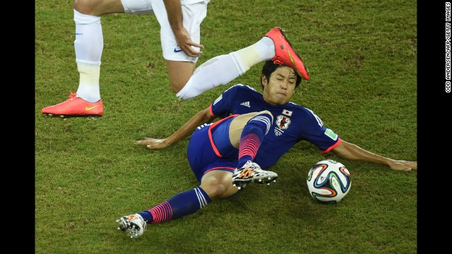 Japan defender Atsuto Uchida in action.