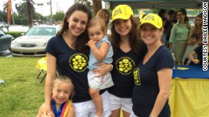 It\'s a family affair! Madison\'s mom, sister and niece lend a hand at an event for Alex\'s Lemonade Stand in Fort Lauderdale, Florida.