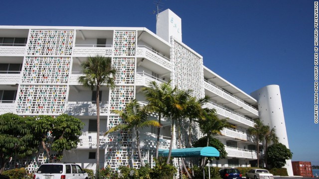 Bay Harbor's East Island in Miami, Florida, features a collection of Miami Modern buildings, a style of architecture popular from 1945 until the mid 1960s. Development proposals threaten the area with demolition.