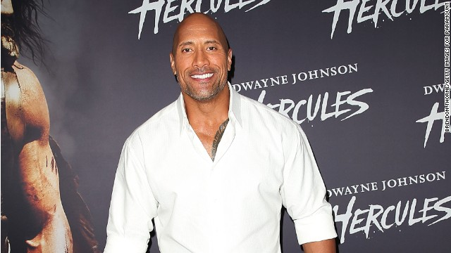 Dwayne Johnson donned a Christmas onesie for some holiday fun.
