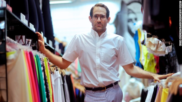 Dov Charney, chairman and chief executive officer of American Apparel Inc., stands for a portrait in a company retail store in New York, U.S., on Thursday, July 29, 2010. Starting the company in a dorm at Tufts University in Medford, Massachusetts, Charney built a worldwide empire of 280 clothing stores by leaping out ahead of mainstream fashion. He personified the racy, risk-taking aesthetics of his business and is now facing the consequences - skittish lenders and investors who doubt his ability to oversee his own creation. Photographer: Keith Bedford/Bloomberg/Getty Images