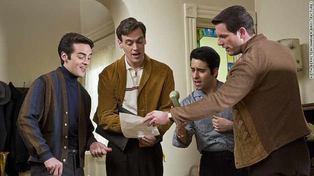 Vincent Piazza, Erich Bergen, John Lloyd Young and Michael Lomenda play the Four Seasons in