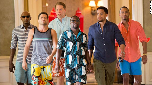 Kevin Hart (center in sun glasses) leads the cast of