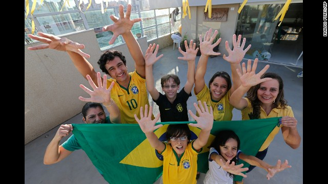 Members of the six-fingered Silva family hope to bring the Brazilian soccer team extra luck in Brasilia, Brazil. <a href='http://www.cnn.com/2014/06/18/football/gallery/world-cup-0618/index.html'>See the best World Cup photos from June 18. </a>