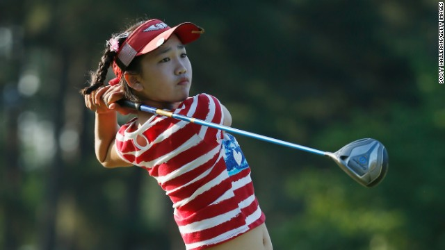 Lucy Li, the youngest player to qualify for the U.S. Women's Open, finished her first round with an eight-over-par 78, at Pinehurst on Thursday.